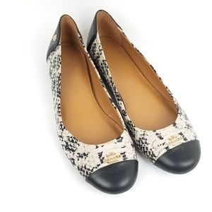 Coach Chelsea Black/Snakeskin Leather Ballet Flats